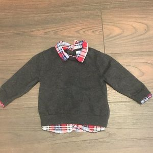 Baby GAP Sweater with attached shirt